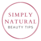 logo for simply natural beauty tips