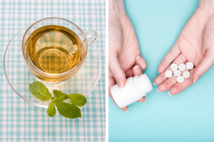 spearmint tea vs spironolactone