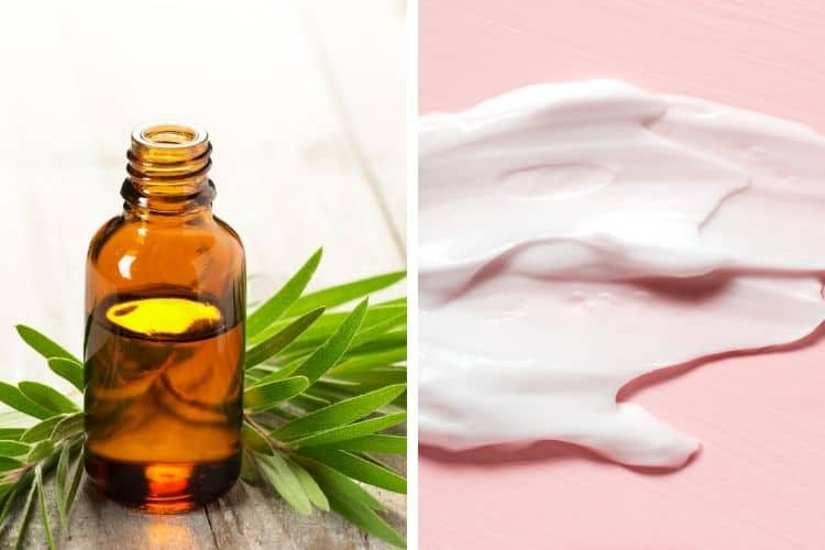 use tea tree oil and benzoyl peroxide together