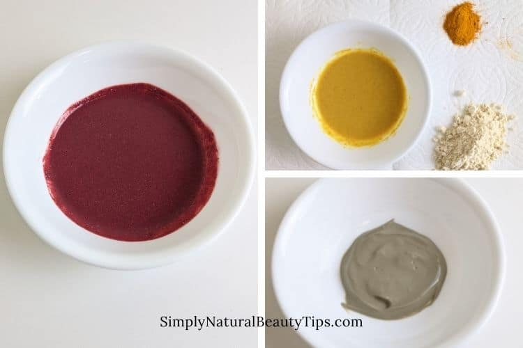homemade face mask after steaming