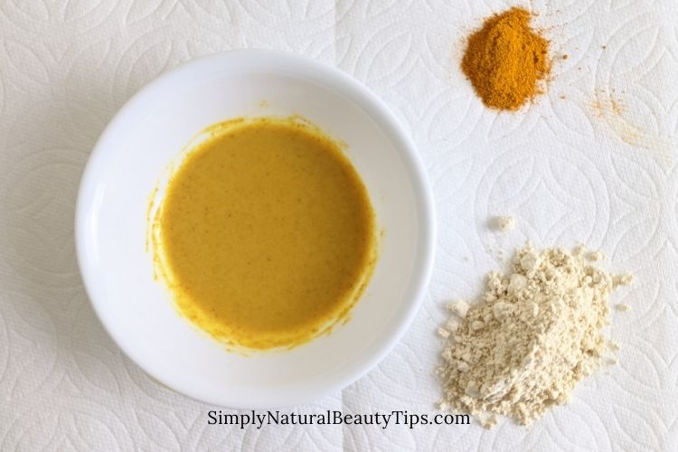 turmeric mask to use after facial steaming