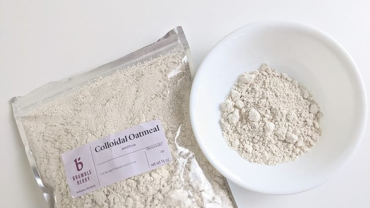 natural exfoliants that are good for sensitive skin - colloidal oatmeal